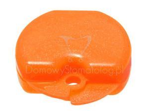 Duże pudełko ortodontyczne na protezę, szynę zgryzową, aparat ortodontyczny lub retencyjny - Pomarańczowy z brokatem - 2827460000