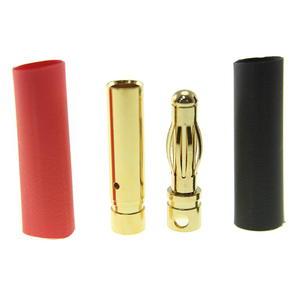 Pozłacany Wtyk złącze RC Gold Bullet 4mm - para (męski + żeński) - 2846111364