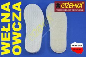 Wkładki do butów WEŁNA OWCZA 100% SUPER CIEPŁE 35-48 - 2842028029