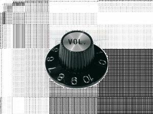 Gałka vintage SG (volume, czarno-srebrna) - 2856725713