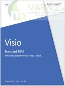 Microsoft Visio Std 2013 PL 32-bit/x64 Medialess (D86-04782) Polska dystrybucja PAYU!! - 2829100515