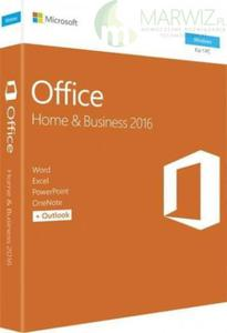 NOWY! ORYGINALNY! Microsoft Office 2016 Home and Business PUDEŁKO BOX ENGLISH - 2853137241