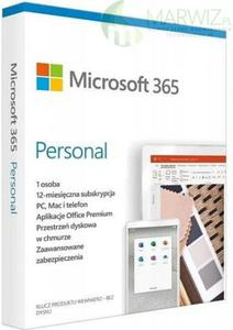 Microsoft Office 365 Personal 32/64 Bit PL Subsk 1 rok 1 stanowisko (QQ2-00075) ESD - 2863880524
