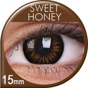 Soczewki Kolorowe ColourVUE Big Eyes 15mm 2szt. - Sweet Honey - 2822116647