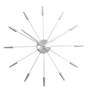 PLUG INN Silver Zegar ścienny - 2829000644