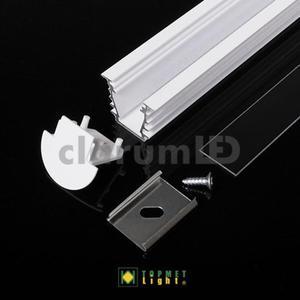 Zestaw LED DEEP - 1 m \ biały \ transparentny \ z otworem - 2835209505