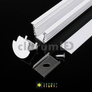 Zestaw LED DEEP - 1 m \ biały \ mleczny \ z otworem - 2835209506