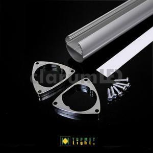 Zestaw LED OVAL - mleczny \ prosty \ 1 m \ srebrny - 2835209716