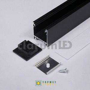Zestaw LED LINEA20 - czarny \ transparentny \ 1 m - 2835209829