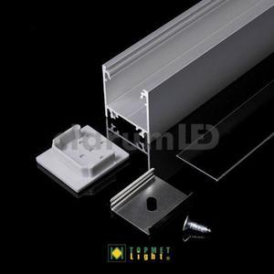 Zestaw LED LINEA20 - transparentny \ srebrny \ 2 m - 2835209835