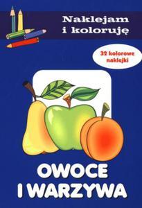 Owoce i warzywa. Naklejam i koloruję - 2847900928