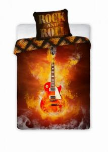 Pościel Młodzieżowa 160x200 Gitara Rock and Roll - 2839114076