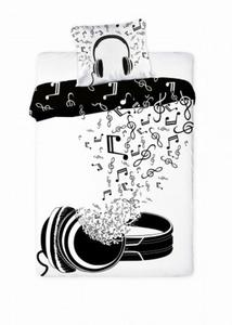 Pościel Młodzieżowa 160x200 Słuchawki Muzyka Music - 2839114077