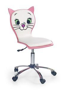 Fotel młodzieżowy Kitty 2 Halmar biało-różowy(V-CH-KITTY_2-FOT) --- NAJTANIEJ W DECOFIRE!! ZAPYTAJ O OFERTĘ: 668-151-378 - 2822789255