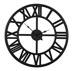96a2236415ea Czarny zegar metalowy styl nowoczesny retro loft 60 cm 43-204 - 2872967169