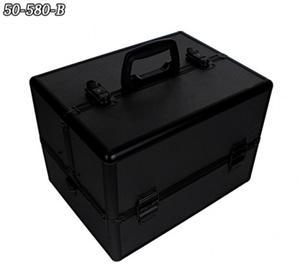 Kuferek na kosmetyki czarny duży lakiery żele tusze 50-580B - 2862481969