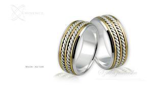 Obrączki ślubne - wzór Au-128 - 2827275192