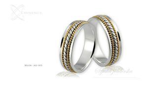 Obrączki ślubne - wzór Au-163 - 2827275221