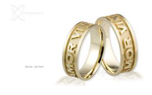 Obrączki ślubne - wzór Au-360 - 2827275380