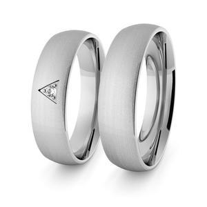 Obrączki srebrne klasyczne 5 mm - 52 - 2856187681