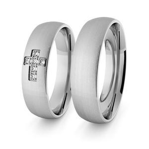 Obrączki srebrne klasyczne z krzyżykiem 5 mm - 70 - 2856187699