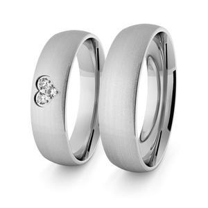Obrączki srebrne klasyczne z sercem 5 mm - 73 - 2856187702