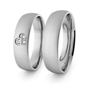 Obrączki srebrne klasyczne z sercem 5 mm - 74 - 2856187703