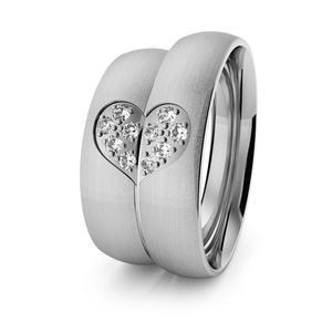 Obrączki srebrne klasyczne 5 mm z połówkami serc - 77 - 2856187706