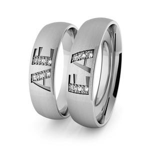Obrączki srebrne klasyczne 5 mm z inicjałami - 79 - 2856187708