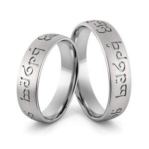 Obrączki srebrne elfickie - obrączki władcy pierścieni - wzór Ag-387 - 2856188500