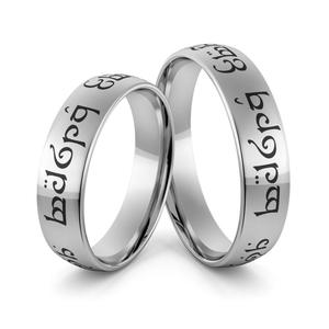 Obrączki srebrne elfickie emaliowane - obrączki władcy pierścieni - wzór Ag-388 - 2856188501