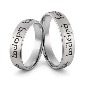 Obrączki srebrne elfickie emaliowane - obrączki władcy pierścieni - wzór Ag-388 - 2856188502
