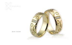 Obrączki ślubne - wzór Au-467 - 2827275480