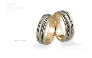 Obrączki ślubne - wzór Au-057 - 2827275124