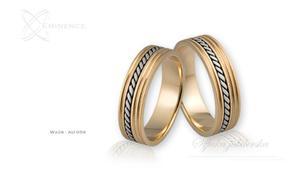 Obrączki ślubne - wzór Au-059 - 2827275126