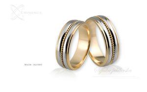 Obrączki ślubne - wzór Au-060 - 2827275127