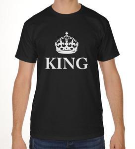Koszulka męska z nadrukiem KING z koroną - 2865352801