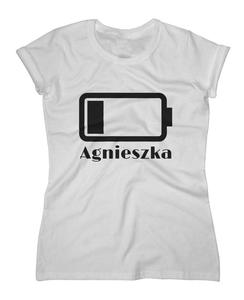 Koszulka damska z nadrukiem Bateria z imieniem - 2868021180