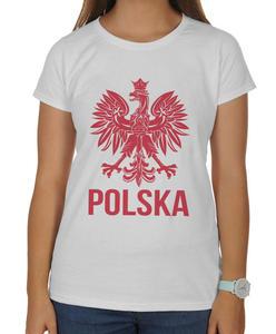 Koszulka damska kibica Reprezentacji Polski z orłem - 2868021268