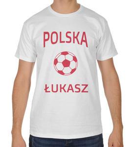 Koszulka kibica Reprezentacji Polski z piłką i imieniem - 2868021278
