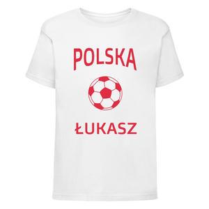 Koszulka dziecięca Małego Kibica Polska z piłką i imieniem - 2868021286