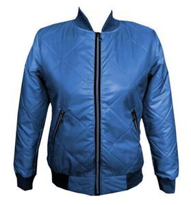 Kurtka pikowana jeans - 2856672742