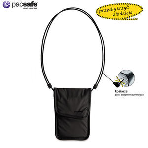PacSafe Paszportówka sekretna na szyję Coversafe 75 czarna - 2833124128