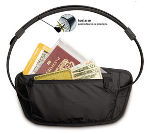 PacSafe Sekretna paszportówka na biodra Coversafe 100 czarna - 2833124130