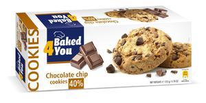 BAKED4YOU 135g Chocolate Chip Ciastka - 2833124348