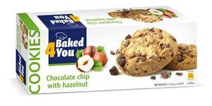 BAKED4YOU 135g Chocolate Chip with Hazelnut Ciastka - 2833124349