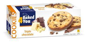 BAKED4YOU 135g Triple Chocolate Ciastka - 2833124506