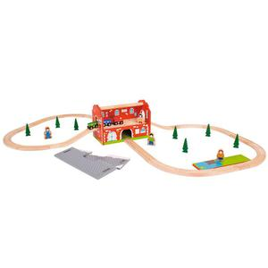 Bigjigs Kolejka dworzec kolejowy, 40 elementów - 2833123427