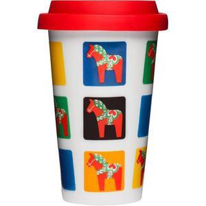 Sagaform - porcelanowy kubek termiczny Cafe koniki Dala - Koniki Dala - 2824447279
