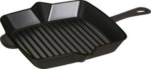 Staub - patelnia grillowa żeliwna kwadratowa czarna 26 cm x 26 cm - 2824447567